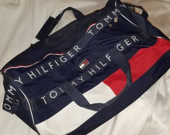 ba37c67f1e Vintage 1990s Tommy Hilfiger Travel Duffel Bag