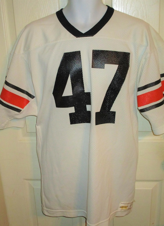 Vintage 70 S 80 S Russell Athletic Auburn Tigers 47 Football Jersey Adult Large