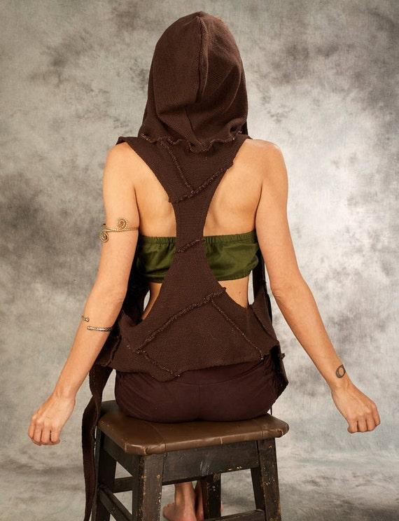 Gestrickte Weste für Frauen asymmetrische Hoodie Goa | Etsy