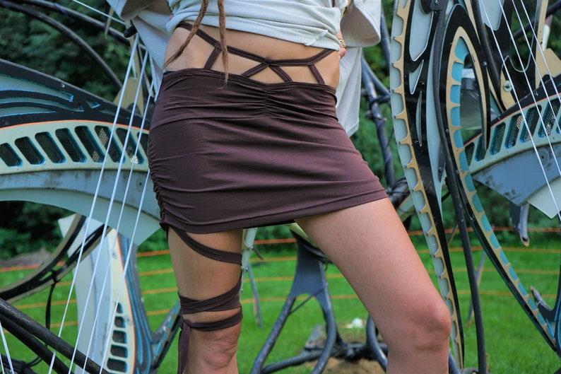 Mini Wraping Skirt for Women short~Alternative~Goa Psy Trance~Goa~Gypsy~Earthy~Tribal Clothing~Sexy~Festival Clothing~Goa Festival~YamunaArt