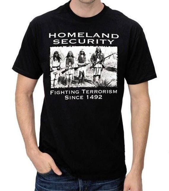 Homeland Security Fighting Terrorism Since 1492 Native Americans Mens Sweatshirt