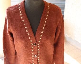 a87bd09af Brown knit cardigan