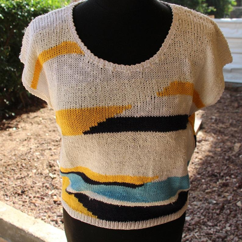 aa30b9a7f4b17 Knit sweater tank. Women s knit tank top. Knitted striped
