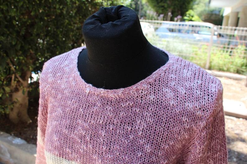 Women/'s jumper Striped knit sweater Bohemian sweater. Knitted jumper Striped sweater jumper Knit pullover women Striped jumper