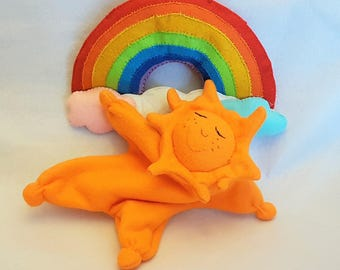 doudou, waldorf toy, first toy, waldorf sun, comforter blanket, comfort toy, baby crib toy, baby gift. made in Italy.