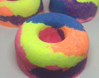 41dd55740 XL Donut Bath Bomb / Lush Bath Bomb / Multi Color Bath Bomb / Party Favors