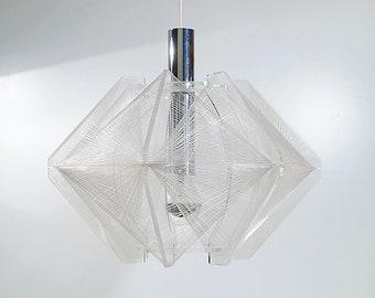 Hängelampe, 60er   70er Jahre, Paul Secon Für Sompex, Space Age Design,  Plexiglas Und Nylonfäden, Vintage Deckenlampe, Retro Wohnzimmer