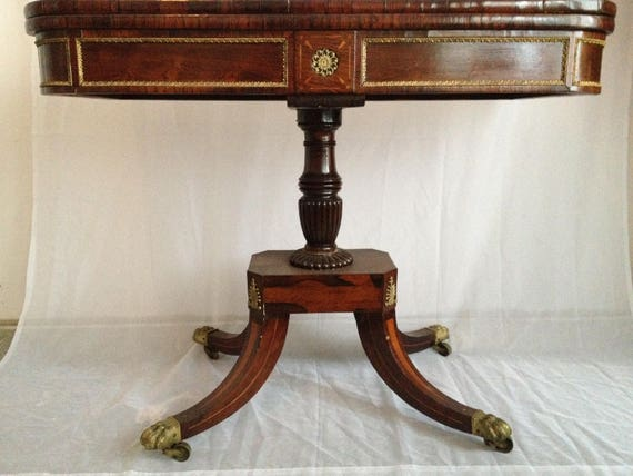 Antique Card Table Etsy