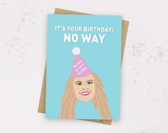 Chloe Love Island Card - NO WAY - Love Island Birthday Card - Love Island Greeting Card - Love Island 2021 - Love Island UK