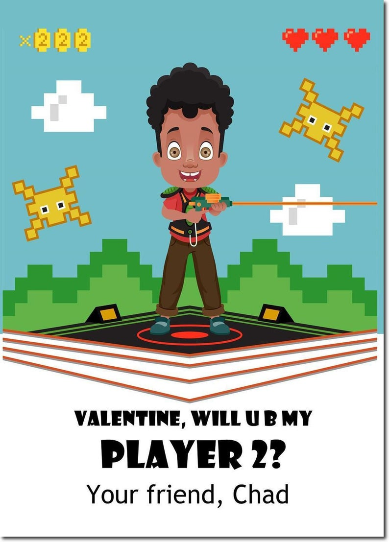 African American Valentines  classroom valentines image 0