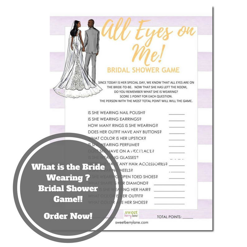 What is the Bride Wearing Bridal Shower Game  African image 0