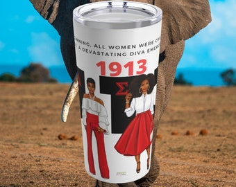 Delta Sigma Theta Sorority Tumbler | DST Founders Day Gift | J13 Nalia Merch | Devastating Diva Drinkware | 1913 Gifts | free shipping