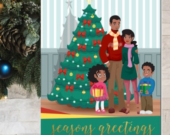 African American Christmas Card | African American Holiday Card | African American Family Christmas Card | Black Family Christmas Boxed Set