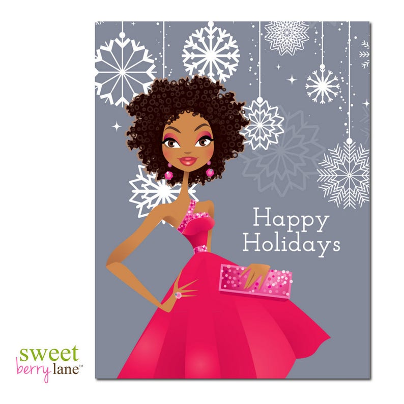African American Christmas Card  African American Holiday image 0