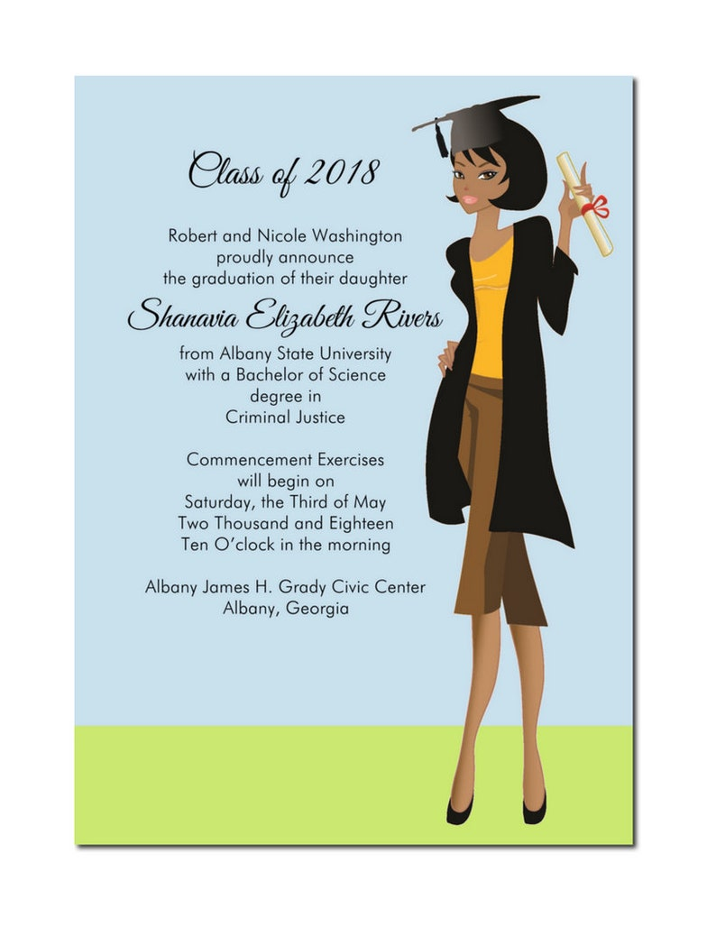 African American Graduation Announcement  African American image 0