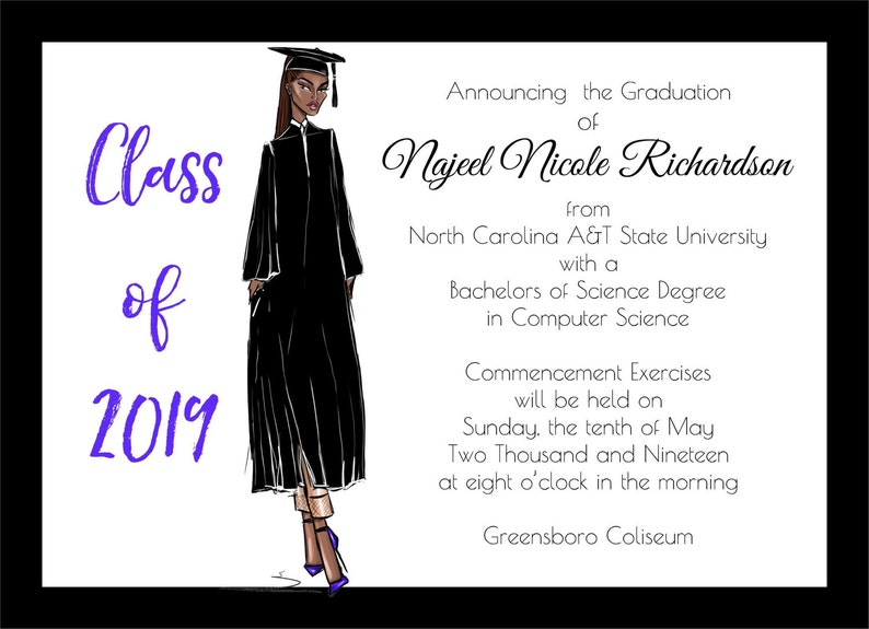 African American Graduation Announcement  Fashion  African image 0