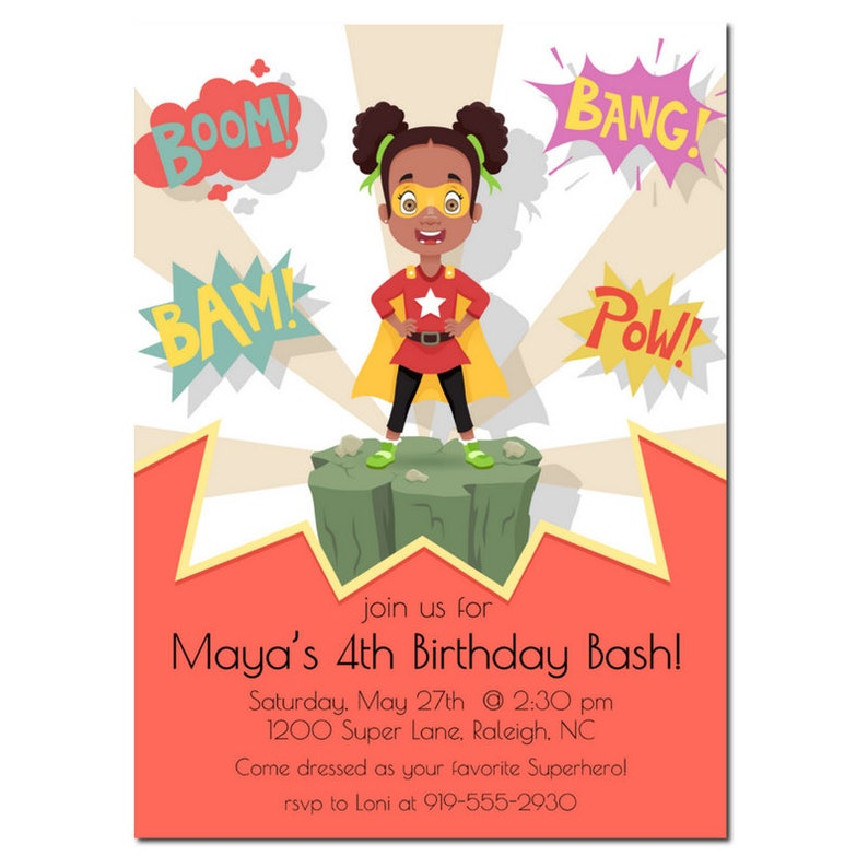African American Birthday Party  Superhero Birthday Party  image 0