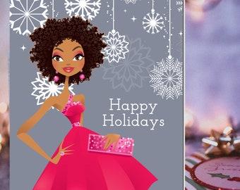 Black Girl Magic Christmas | African American Christmas Card | African American New Year Card  | Black Happy 2021 Card