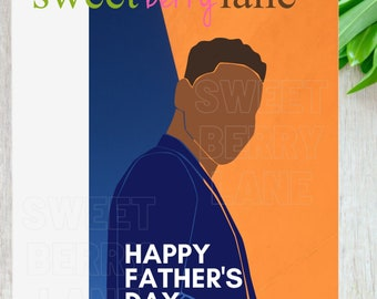 African American Father's Day Cards   Black Father's Day Card    Father's Day card for Black Dad   Black Dads Greeting Card   Free Shipping