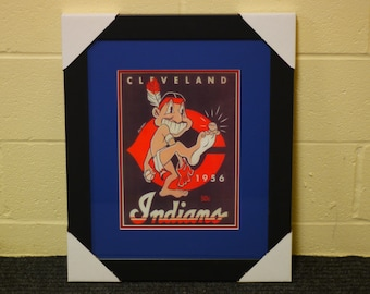 01ef9a3fa22 Rare Cleveland Indians Chief Wahoo 1956    Cleveland history art    Cleveland  Indians    Chief Wahoo    Big Picture Cleveland    16x20