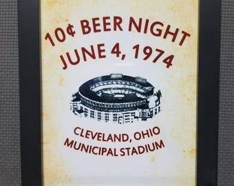 10 cent beer night    Cleveland historical    Cleveland Indians     Municipal Stadium    8x10    Big Picture Cleveland    Chief Wahoo f1367bde3193