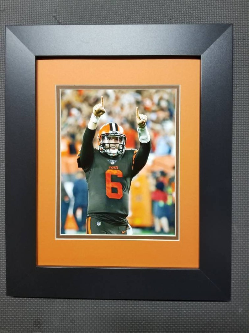 Baker Mayfield celebrates with the Cleveland fans    Cleveland Browns    Big  Picture Cleveland    Baker Mayfield    Dawg Pound    11x14 a6a69fdf1