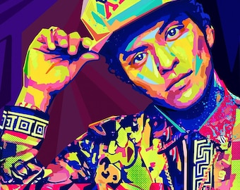 16d669ad724 Bruno Mars Tribute. Limited edition signed prints by artist Sarah Rasul