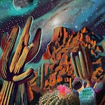 Superstition Mountains limited edition signed print by artist Sarah Bliss Rasul