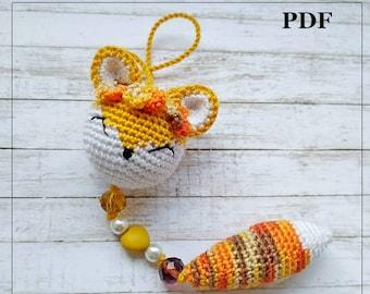 Fox crochet pattern, step-by-step instructions PDF fille, Amigurumi fox stuffed animal