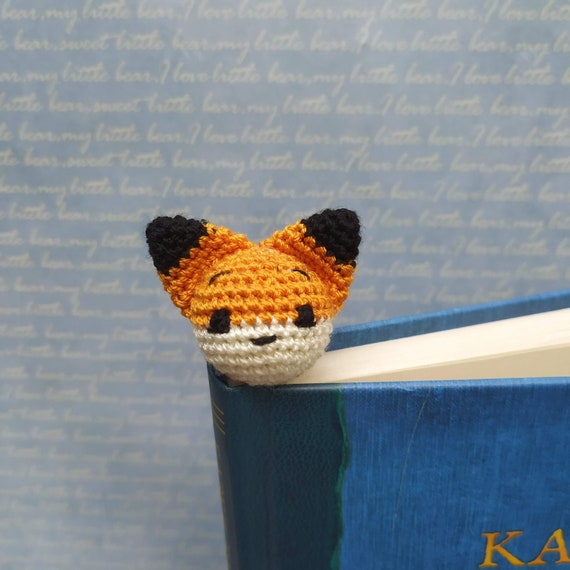 Amigurumi Crochet Fox Bookmark | 570x570