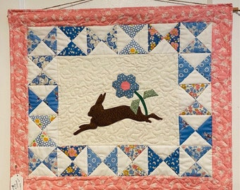 Quilted Rabbit Wallhanging