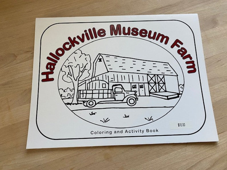 Hallockville Museum Farm Coloring and Activity Book image 0