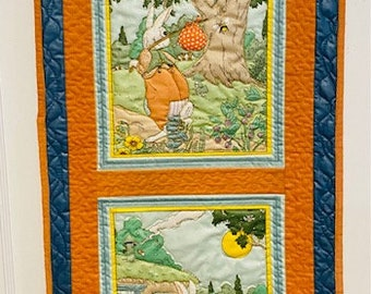 Rabbit Vintage Storyland Quilted Wallhanging