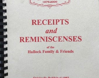 Receipts and Reminiscences Cookbook