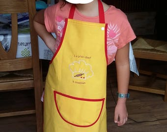 custom and personalized child apron
