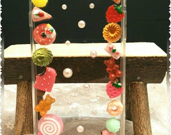 handmade iPhone 6 plus case with sweet candies accessories
