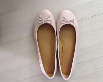 J  Crew Coco Leather Ballet Flats Size9 (Free Shipping in USA)