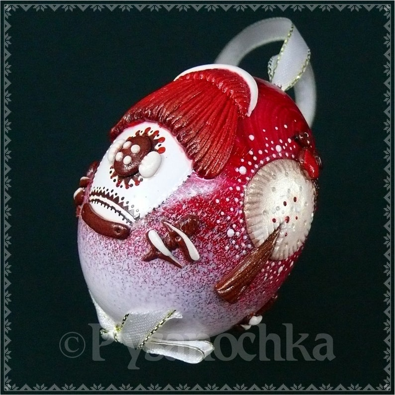 Real Ukrainian Pysanky Chicken Pysanka Salted Dough technique Christmas Decor Easter Egg Pisanka Osterei Handmade Best Christmas Gifts \u0425mas