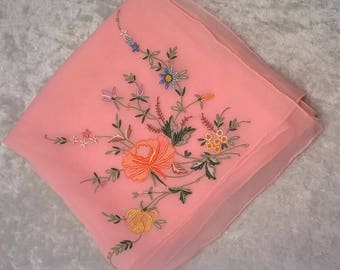 PRETTY EMBROIDERED SCARF