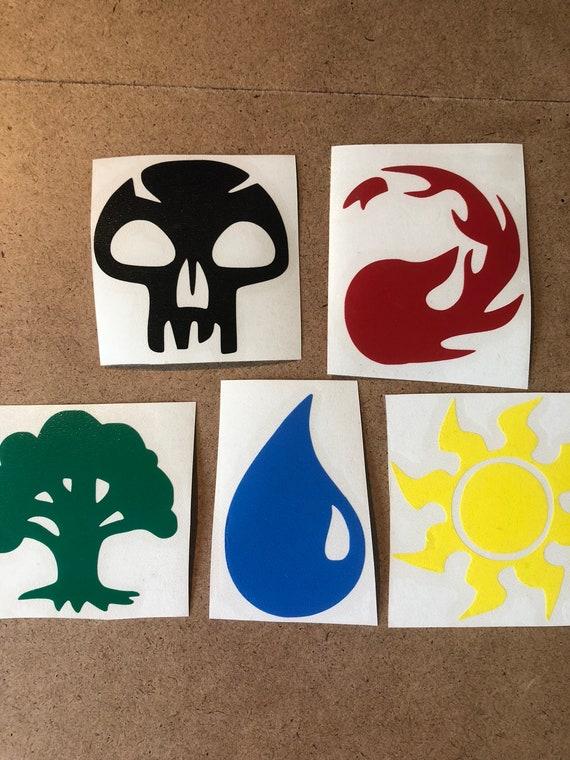 MTG Magic the Gathering Land Symbols Decal
