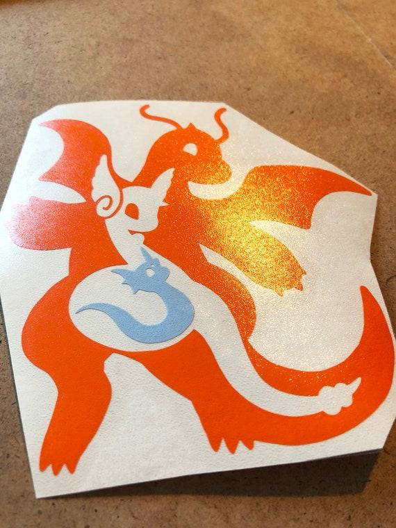 Dragonair Pokemon Go Pokemon Waterproof Self Adhesive Vinyl Sticker