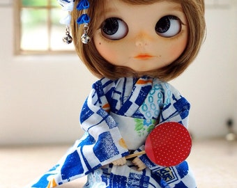 Yukata or Simple Casual Kimono for Blythe