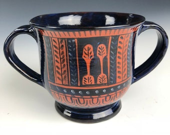 Ancient Greek Pottery Kantharos Reproduction