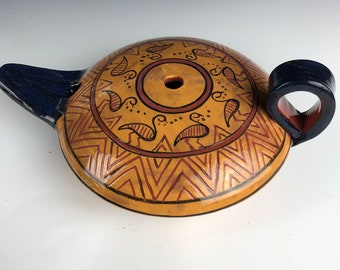 Terracota Oil lamp Ancient Ceramic Art