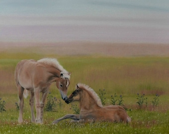 Title: Tender Moment, Fine Art Oil Painting, One-of-a-Kind Wall Art