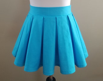 33e15ec87c Box Pleat Mini Skirt - Pleated Mini Skirt Available in Color - Any Size  from Petite to Plus Sized - Japanese School Uniform Cosplay Skirt