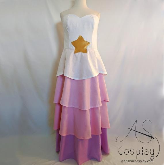 Steven Universe Quartz Rose robe cosplay costume star robe Livraison gratuite