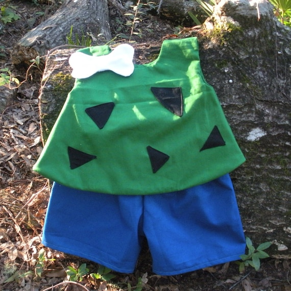 Baby/Toddler Sized Pebbles Costume   Baby Pebbles Costume With Hair Bone    Baby Girl Halloween Costume   Pebbles Outfit