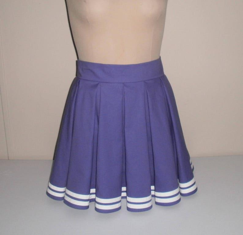 ef0b0263eb57e9 Pli creux sur mesure Mini jupe à rayures - n'importe quelle couleur -  n'importe quelle taille - Anime Cosplay ou Football Game Day pom-pom girl  ...