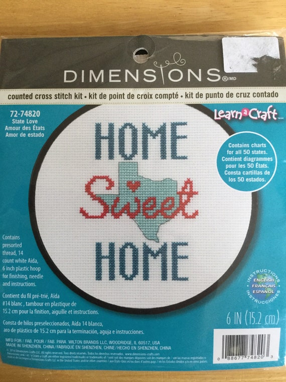 Dimensions Home Sweet Home State Love cross stitch kit 72-74820 All states  included!